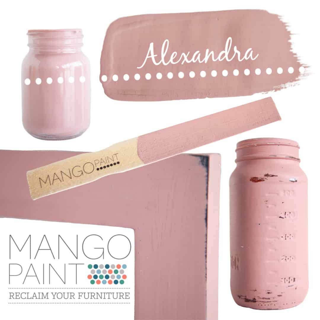 Collage of items painted in Mango Paint colour Alexandra