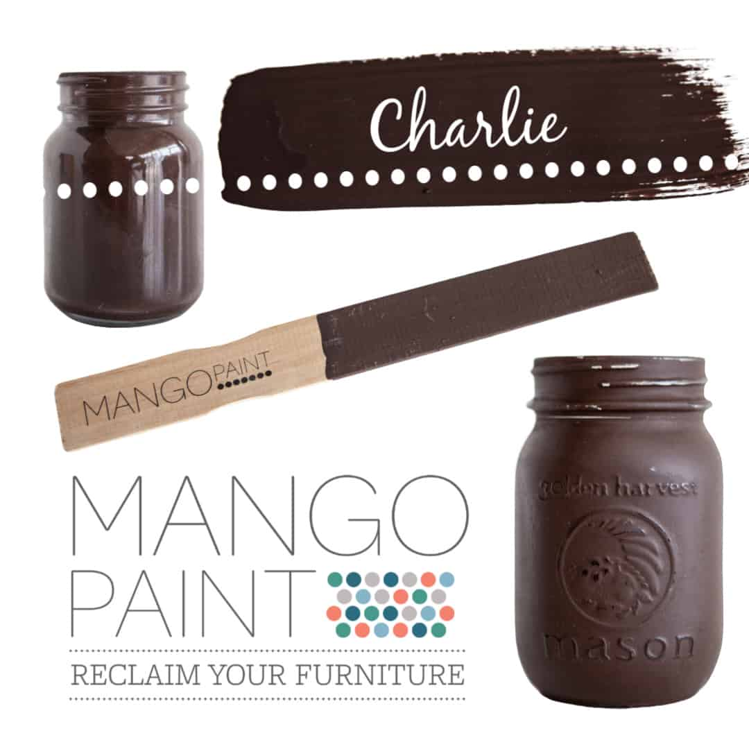 Collage of items painted in Mango Paint colour Charlie