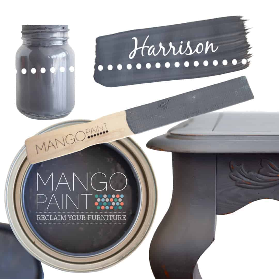 Collage of items painted in Mango Paint colour Harrison