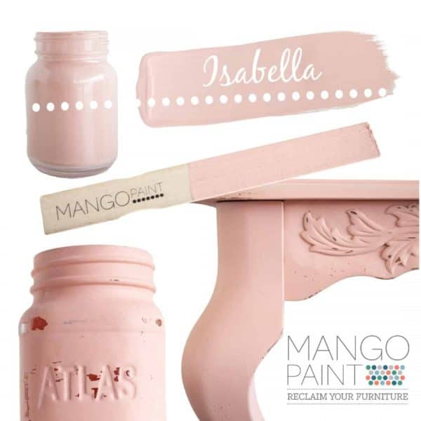 Collage of items painted in Mango Paint colour Isabella
