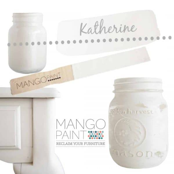 Collage of items painted in Mango Paint colour Katherine
