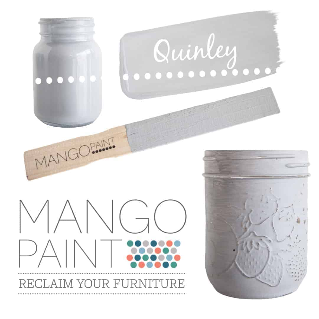 Collage of items painted in Mango Paint colour Quinley