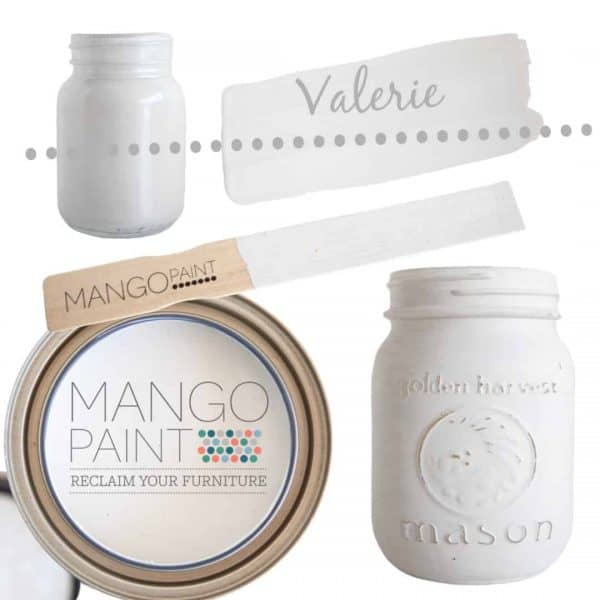 Collage of items painted in Mango Paint colour Valerie
