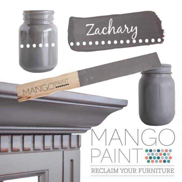 Collage of items painted in Mango Paint colour Zachary