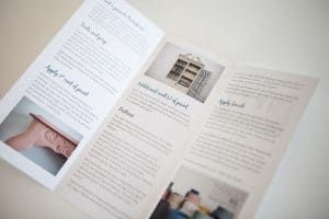 How-to instructions for Mango Paint, hand brochures for retailers.