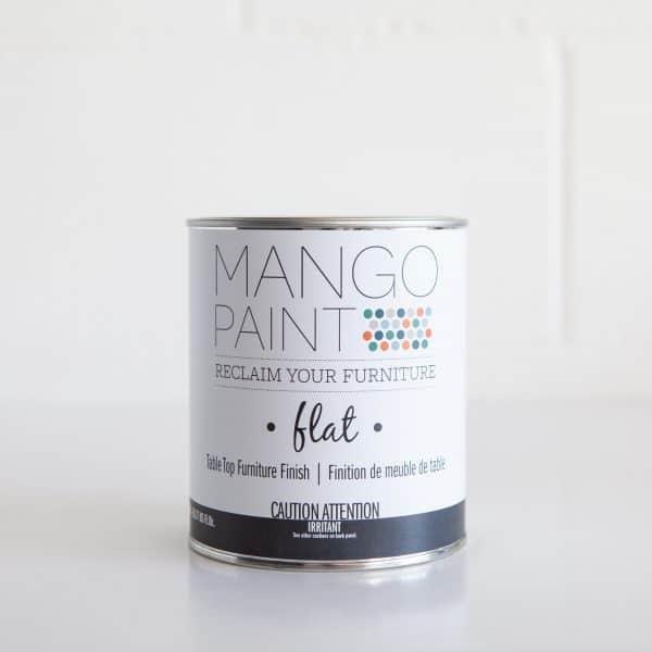Quart can of Mango Paint Table Top Finish Flat