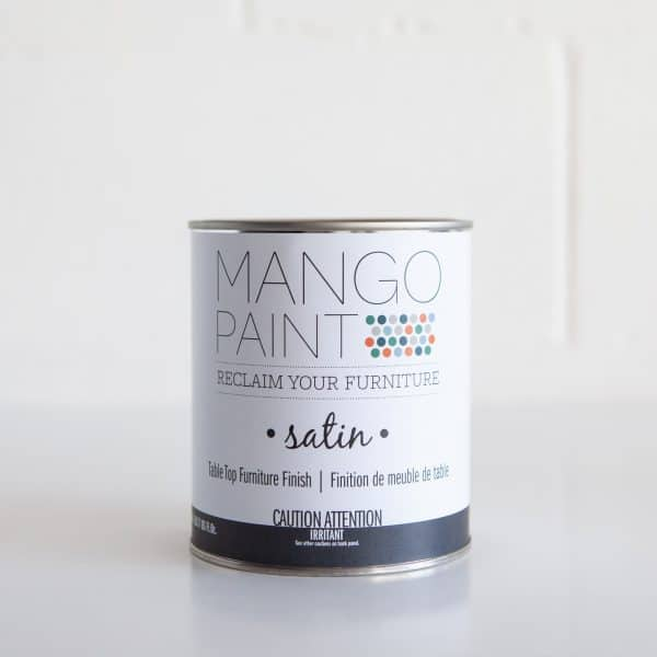 Quart can of Mango Paint Table Top Finish Satin