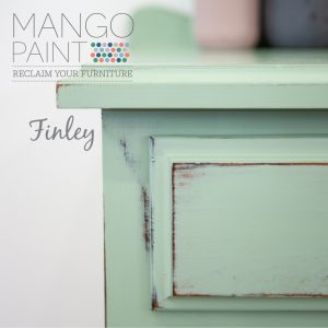 Mango painted in Finley and distressed bedside table